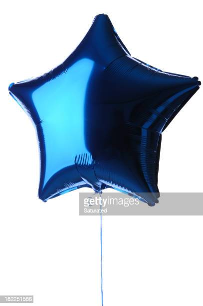 Sternförmiges Blue Metallic Balloon