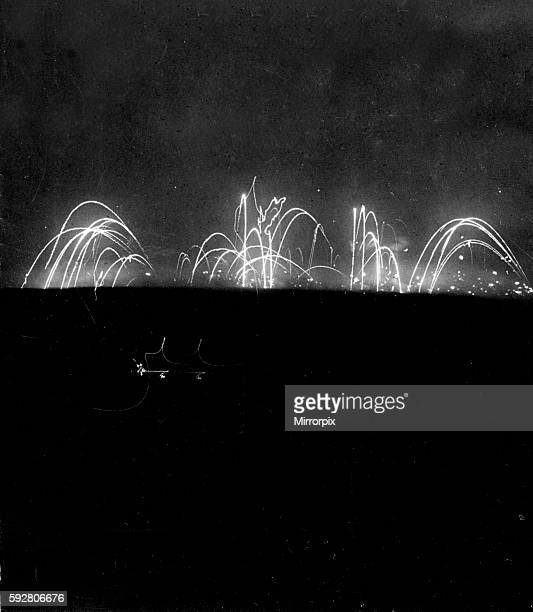 Star Shells and artillery barrage can be seen raging over the Somme Battlefield in this time lapse photograph September 1916