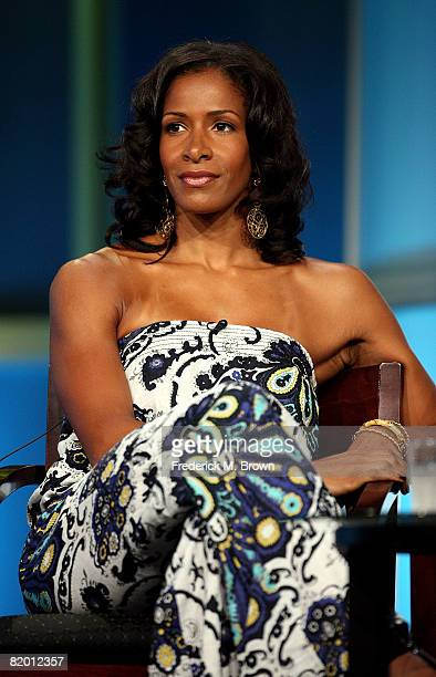 Star Sheree Whitfield of 'The Real Housewives Of Atlanta' speaks during day 13 of the Bravo portion of NBC Universal 2008 Summer Television Critics...