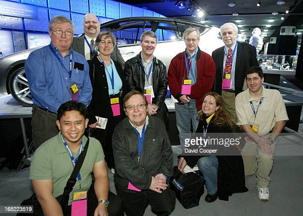 Star Team of Editors and Reporter during the press preview days of the 2005 North American International Auto Show at Cobo Hall Detroit Michigan