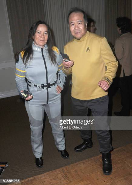 Star Tek Cosplayers Michelle Herbert Salcedo and David Cheng attend the 43rd Annual Saturn Awards After Party held at The Castaway on June 28 2017 in...