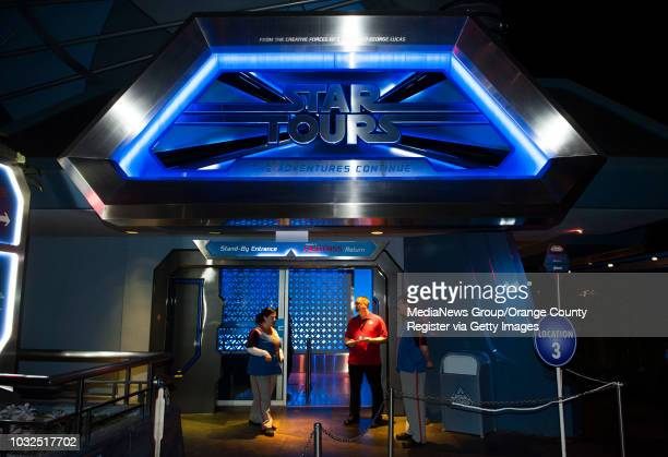 Star Tours open for a media preview Thursday night has been updated with a new destination one from the upcoming Star Wars film The Force Awakens...