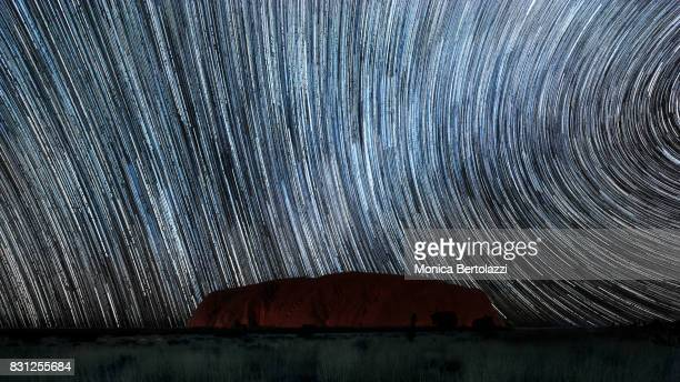 A star trail at Uluru