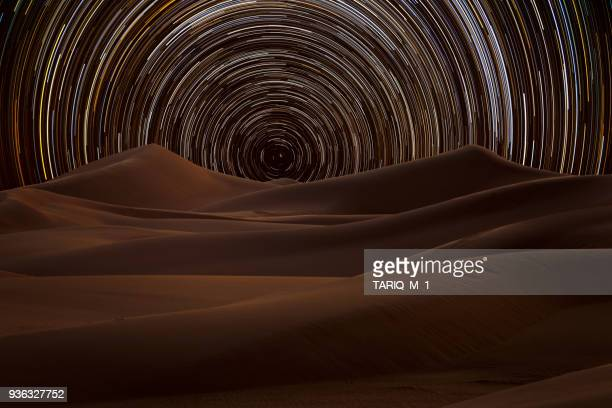 star trail in the desert, riyadh, saudi arabia - riyadh stock pictures, royalty-free photos & images