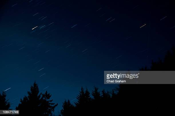 Star Trails & A Meteor