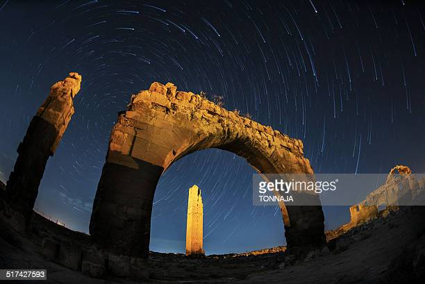 Star trails and the Arch of Harran