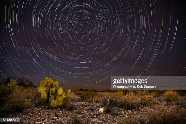 star trails at dugout wells in big bend national park - chihuahua desert stock pictures, royalty-free photos & images