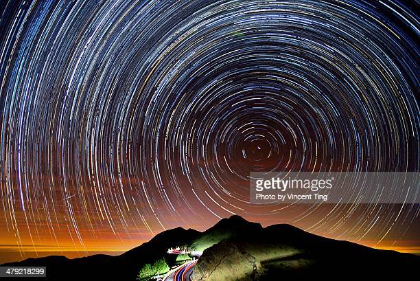 Star trails at Mt. Hehuan
