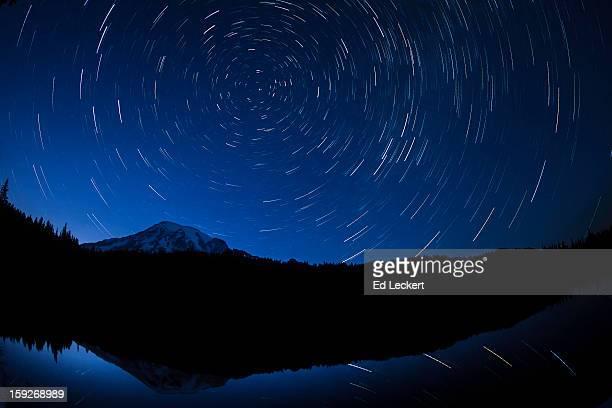 Star Trails at Reflection Lakes