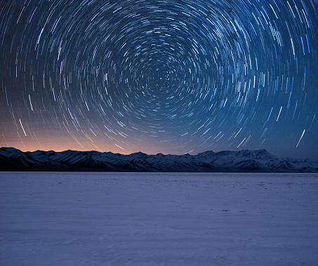 Star trails of Tibet - gettyimageskorea