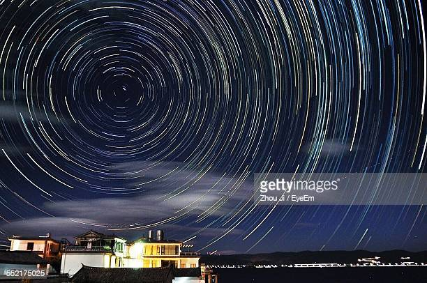 Star Trails Over Town