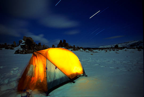 Star Trails Over Winter Tent
