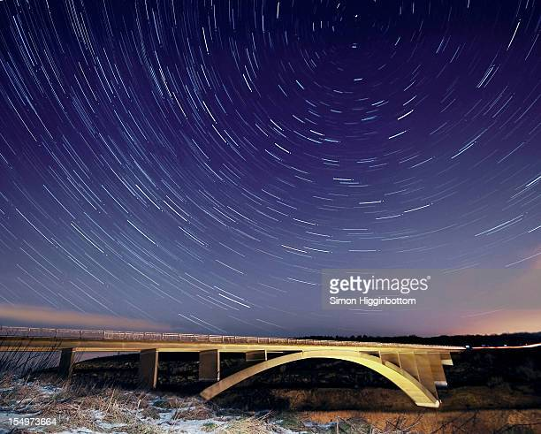 star trails - simon higginbottom stock pictures, royalty-free photos & images