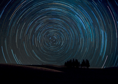 Star trails, Tuscany - gettyimageskorea