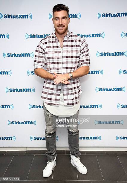 NFL star Travis Kelce visits the SiriusXM Studios on July 27 2016 in New York City