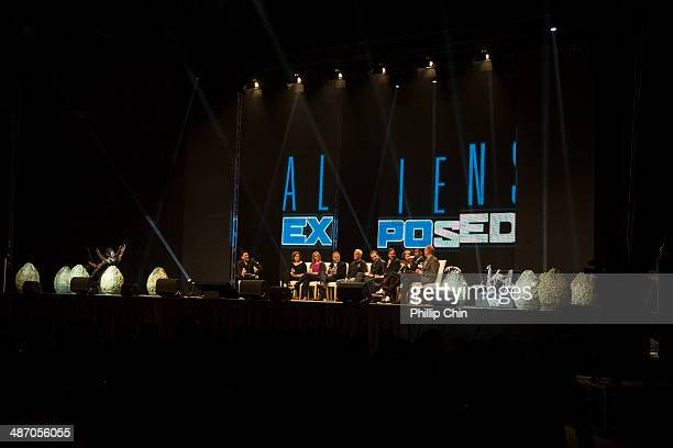 Star Trek actor and moderator Garrett Wang Aliens actors Sigourney Weaver Carrie Henn Paul Reiser Lance Henriksen Michaerl Biehn Bill Paxton Jenette...