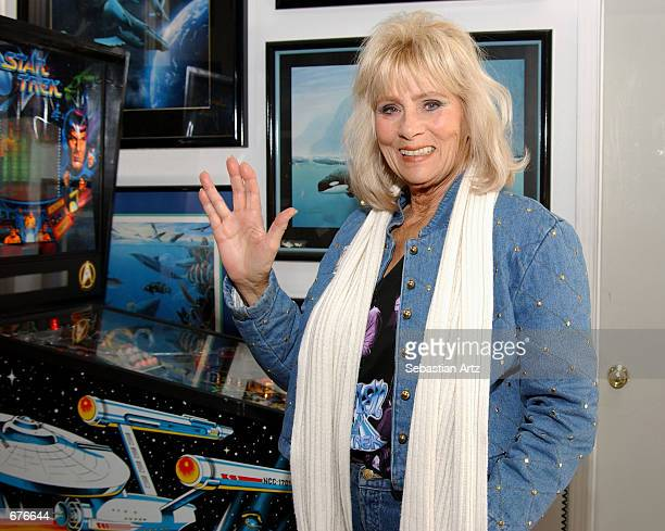 Star Trek cast member Grace Lee Whitney attends the VIP Open House at the Light Speed Fine Arts gallery December 08 2001 in Laguna Hills CA
