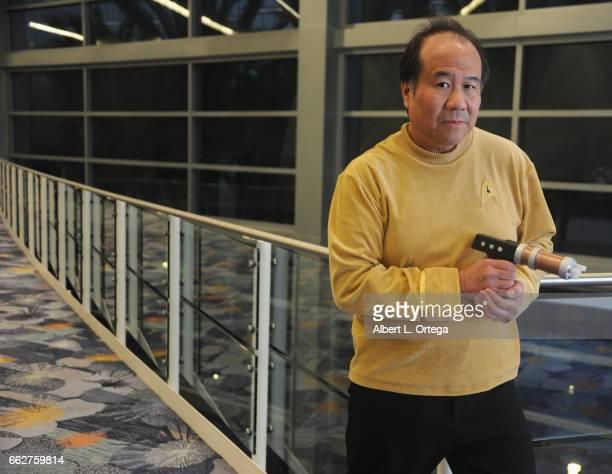Star Trek cosplayer David Cheng attends Day 1 of WonderCon held at Anaheim Convention Center on March 31 2017 in Anaheim California