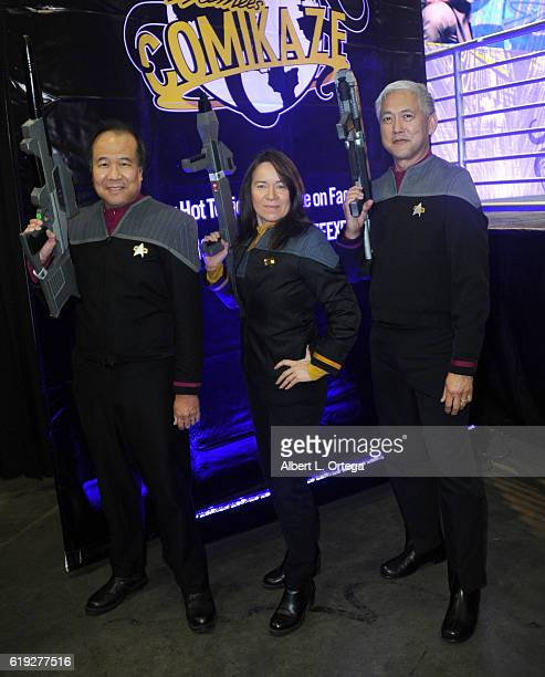 Star Trek cosplayers David Cheng Michelle Wells and Mark Lum on day 2 of Stan Lee's Los Angeles Comic Con 2016 held at Los Angeles Convention Center...