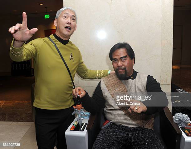 Star Trek cosplayers Mark Lum and Bill Arucan attend The Hollywood Show held at The Westin Los Angeles Airport on January 7 2017 in Los Angeles...