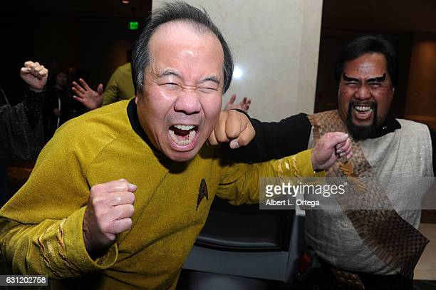 Star Trek David Cheng and Bill Arucan spar at The Hollywood Show held at The Westin Los Angeles Airport on January 7 2017 in Los Angeles California
