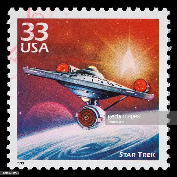 usa star trek sello postal - star trek obra reconocida fotografías e imágenes de stock