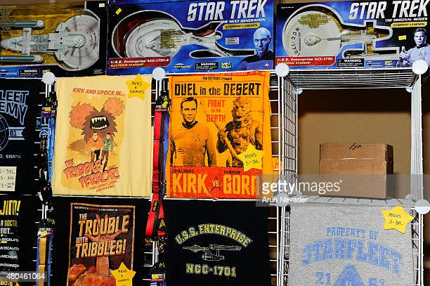 Star Trek poster art on display at the Creation Entertainment's Official Star Trek Convention at Hyatt Regency San Francisco Airport on December 13...