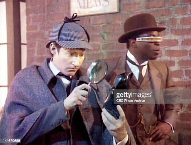 Star Trek: The Next Generation episode, 'Elementary, Dear Data,' featuring Brent Spiner as Lt. Commander Data / Sherlock Holmes and LeVar Burton as...