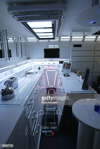 A Star Trek theme kitchen is shown in the apartment of interior designer Tony Alleyne May 16 2003 in Hinckley Leicestershire England The apartment...