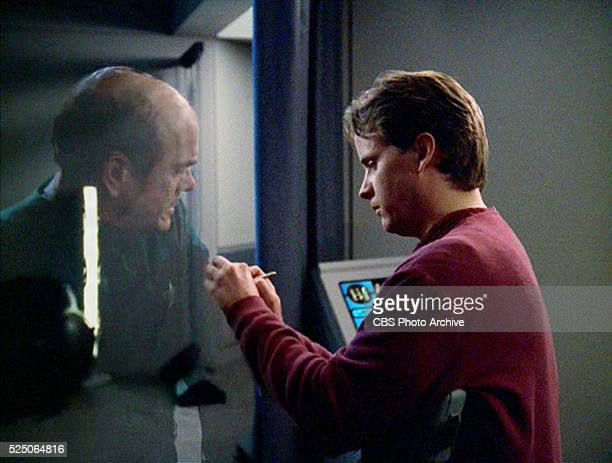 Star Trek Voyager episode 'Critical Care' featuring Robert Picardo as The Doctor a hologram and Paul Scherrer as Dr Voje Initially broadcast November...