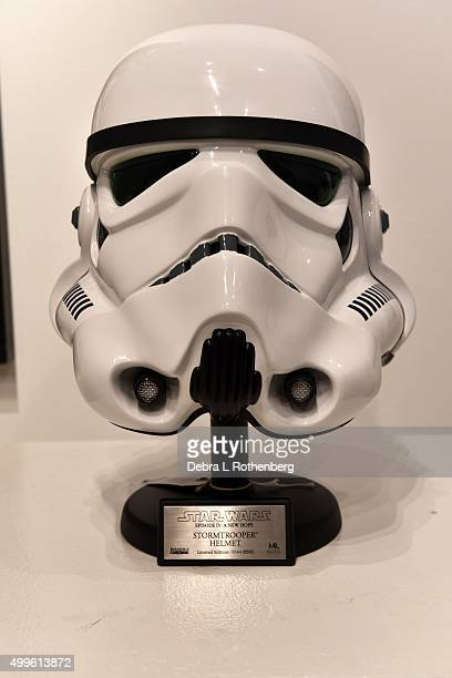 Star Wars A New Hope Stormtrooper Helmet Master Replica from 2007 at the Return Of Nigo' The First Auction Of 'Star Wars' Collectible at Sotheby's on...