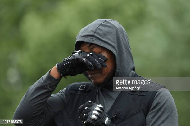 Star Wars actor John Boyega takes part in a Black Lives Matter Demonstration in Hyde Park London on June 3 2020 Thousands of protesters gathered in...