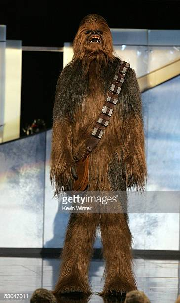 Star Wars Character Chewbacca onstage during the 33rd AFI Life Achievement Award tribute to George Lucas at the Kodak Theatre on June 9 2005 in...