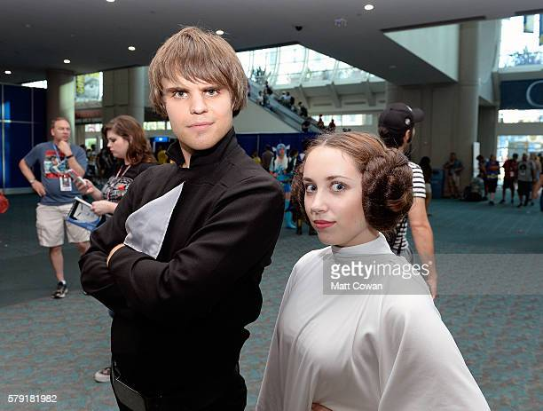 Star Wars cosplayers attend ComicCon International on July 22 2016 in San Diego California