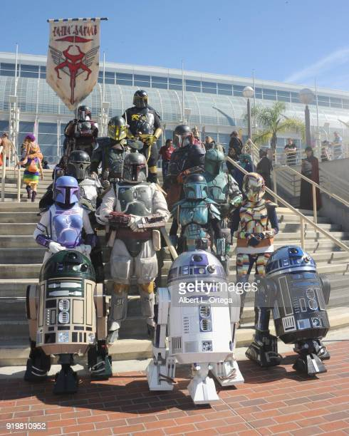 Star Wars Cosplayers attends day 1 of the 8th Annual Long Beach Comic Expo held at Long Beach Convention Center on February 17 2018 in Long Beach...