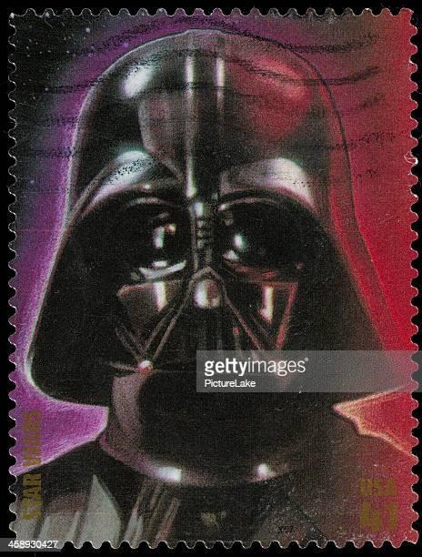 usa star wars darth vader timbre-poste - dark vador photos et images de collection