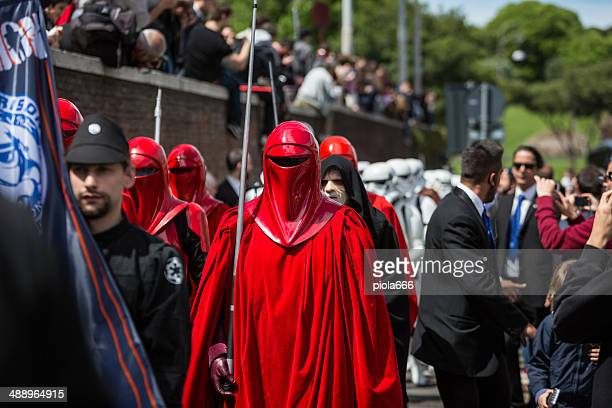 star wars day 2014 in rome - palpatine stock pictures, royalty-free photos & images