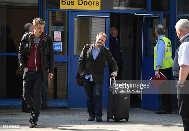 Star Wars director Rian Johnson arrives at Belfast International Airport this morning on May 13 2016 in Belfast Northern Ireland The next Star Wars...