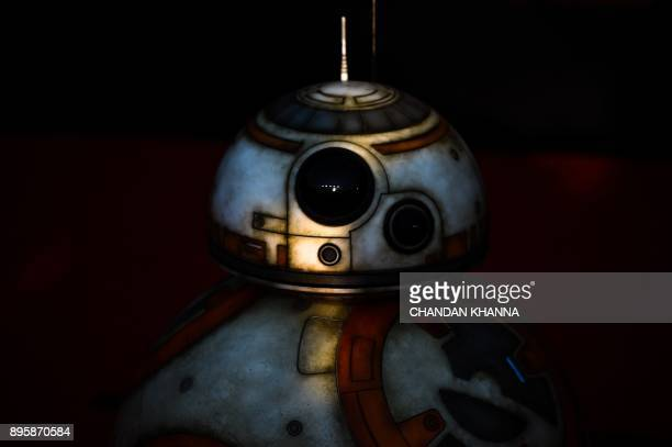 Star Wars droid character BB8 poses at the red carpet for the Chinese premiere of 'Star Wars The Last Jedi' at the Shanghai Disney Resort in Shanghai...