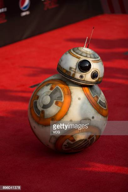 Star Wars droids BB8 arrives at the premiere of film 'Star Wars The Last Jedi' at Shanghai Disney Resort on December 20 2017 in Shanghai China