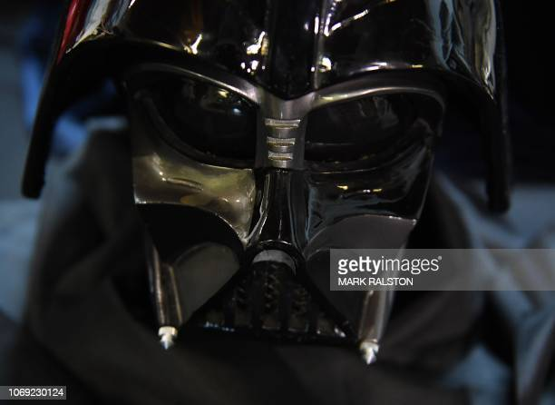 Episode VI Return of the Jedi movie Darth Vader helmet valued between $40000 to $60000 that will be auctioned on December 13 at the Paley Center for...