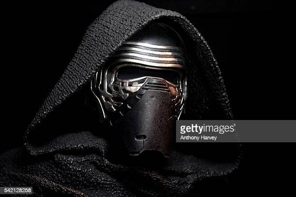Star Wars Episode VII character Kylo Ren at the Star Wars Gallery at Harrods on June 18 2016 in London England