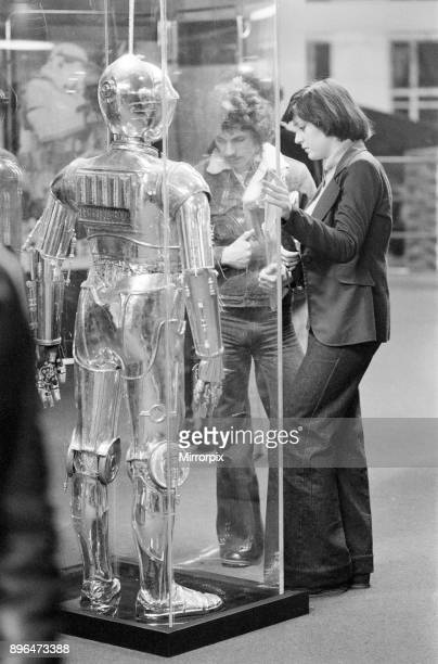 Star Wars Exhibition on display at the Science Museum London 30th December 1977 C3PO android programmed for etiquette and protocol