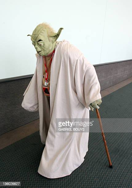 """Star Wars fan arrives at the """"Star Wars Celebration IV"""" in Los Angeles, 25 May 2007. The five-day convention celebrates the 30th anniversary of the..."""