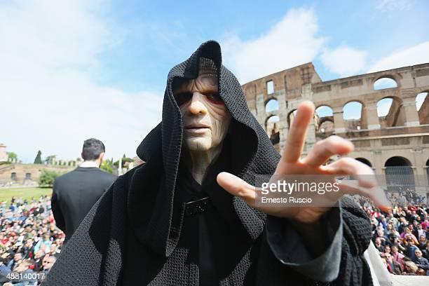 Star Wars fan dressed as Galactic Emperor Darth Sidious Palpatine during the Star Wars Day 2014 at Colloseo on May 4, 2014 in Rome, Italy.