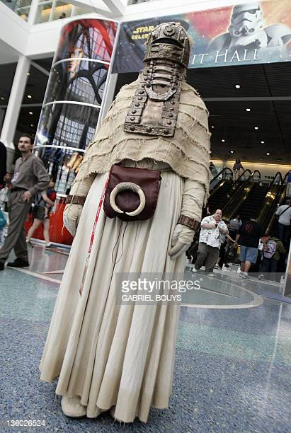 """Star Wars fan poses during the """"Star Wars Celebration IV"""" in Los Angeles, 25 May 2007. The five-day convention celebrates the 30th anniversary of the..."""