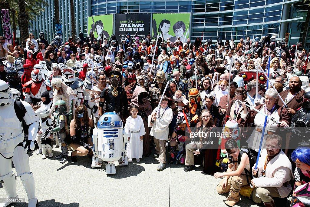 Star Wars fans attend Star Wars Celebration 2015 on April 16, 2015 in Anaheim, California.