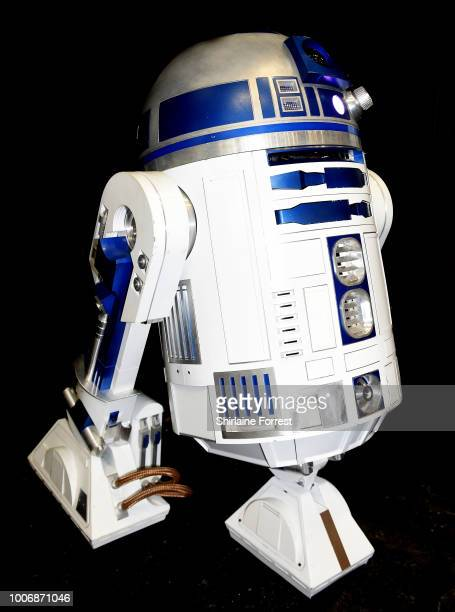 c8d8e52a5276f Star Wars fan s homebuilt R2D2 poses during MCM Comic Con 2018 at  Manchester Central on July