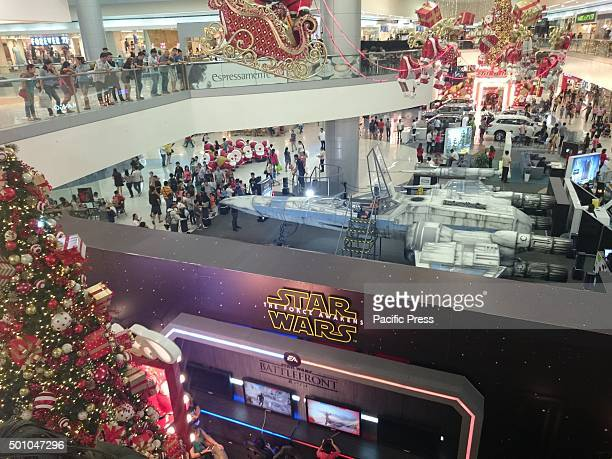 Star wars fans in Metro Manila flocked to Mall of Asia in Pasay City to have photos of themselves inside the life-size x-wing fighter exhibited in...