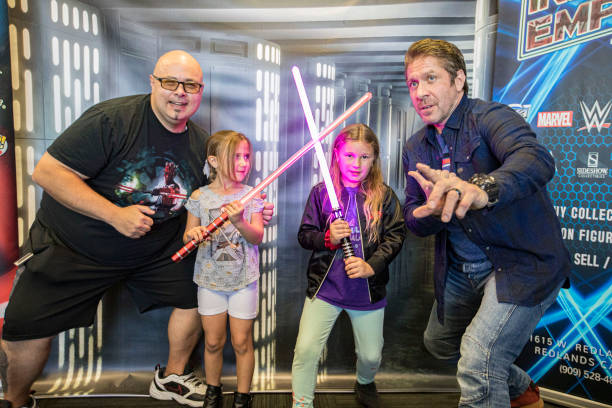 """CA: """"Star Wars"""" Villain Actor Ray Park Who Played Darth Maul Hosts Meet And Greet With Fans At Inland Empire Toy Store"""